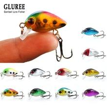 GLUREE 1Pcs Mini Minnow Fishing Lures 3cm 1.5g ABS Arduous Bait Floating Wobblers Crankbait Synthetic Bait Swimbait Fishing Deal with
