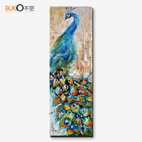 100 Hand Painted Oil Canvas Painting Home Decorative Animal Peacock Impressionist Art On The Walls And