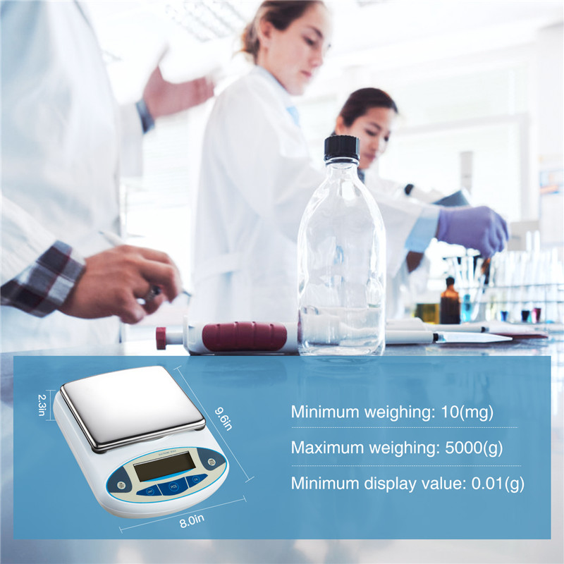 5000g0.01g Analytical Balance Digital Scales Precision Weight Scale Balance Scientific Lab Accuracy Jewelry Kitchen Postal (4)