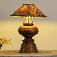 Spring bamboo Table Lamps manual bedroom lamp southeast exit lamp Thai spa designer bedside lamp LU823417