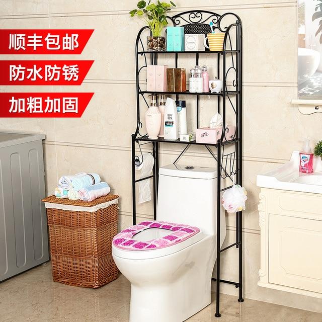 Toilet Multi Layer Shelf Bathroom Floor Corner Bracket Storage Rack