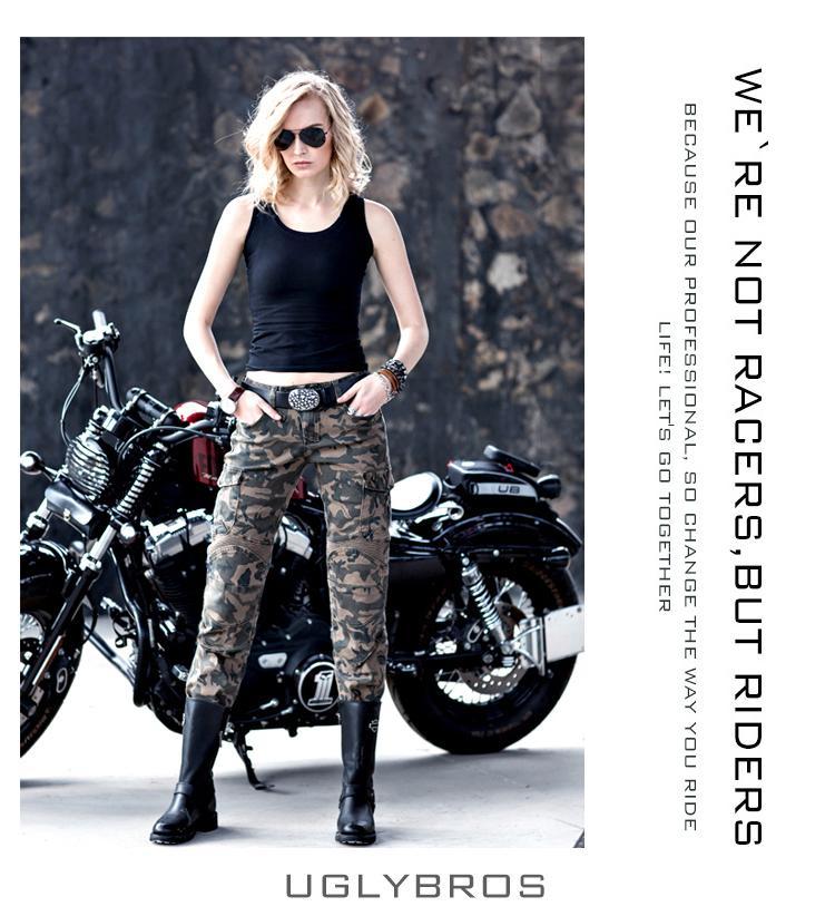 uglyBROS motorpool camo UBP07 Women camouflage pants motorcycle pants jeans casual pants 2016 the newest uglybros motorpool ubs11 leisure motorcycle ms locomotive vintage jeans blue jeans women pants jeans
