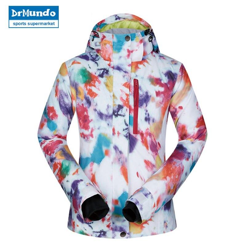 Veste femmes Ski hiver 2018 haute qualité coupe-vent imperméable chaleur manteau neige hiver vêtements marque Snowboard veste femmes