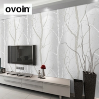 Modern Designer Wall Decor Wood Pattern Wall Paper Rolls Tree Theme Wallpaper For Living Bedding Room
