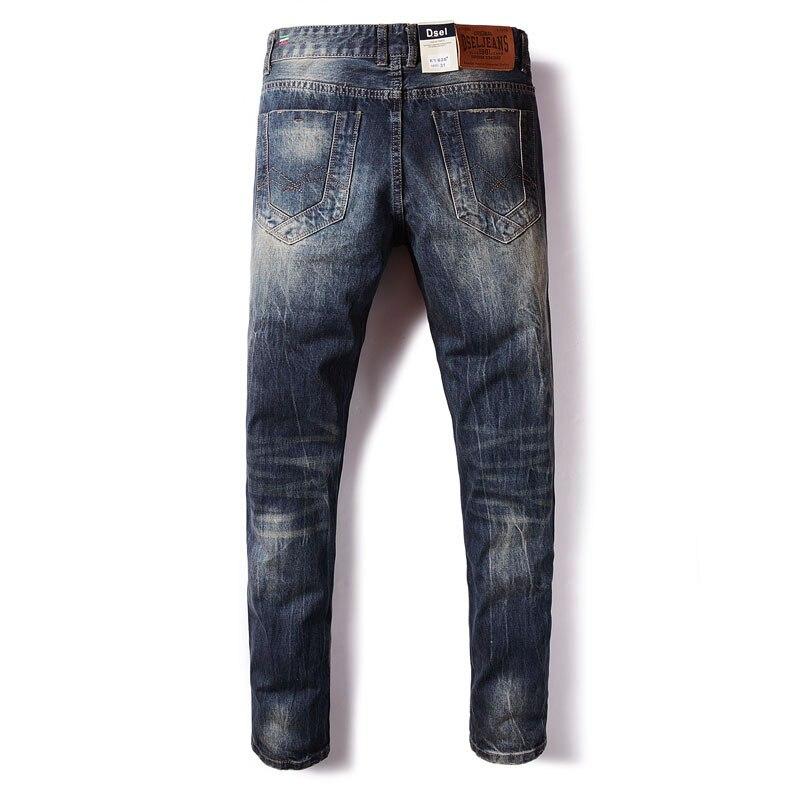 Italian Designer Men Jeans High Quality Straight Fit 100% Cotton Classical Jeans Men Denim Pants Brand DSEL Ripped Jeans Homme