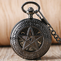 Supernatural Pentagrama Padrão Crown Dial Steampunk do vintage Mão-liquidação Mecânica Homens Mulheres Relógio de Bolso Cadeia Presente