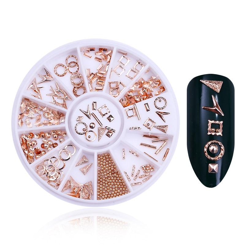 Смешанный цвет камень-хамелион Стразы для ногтей маленькие Необычные бусины Маникюр 3D дизайн ногтей украшения в колесиках аксессуары - Цвет: Pattern 23