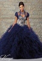 Expectied Chic бисера Золотой Темно-синие Красный Милая бальное платье Quinceanera Специальный для девочки Sweet 16 партии Мать платье