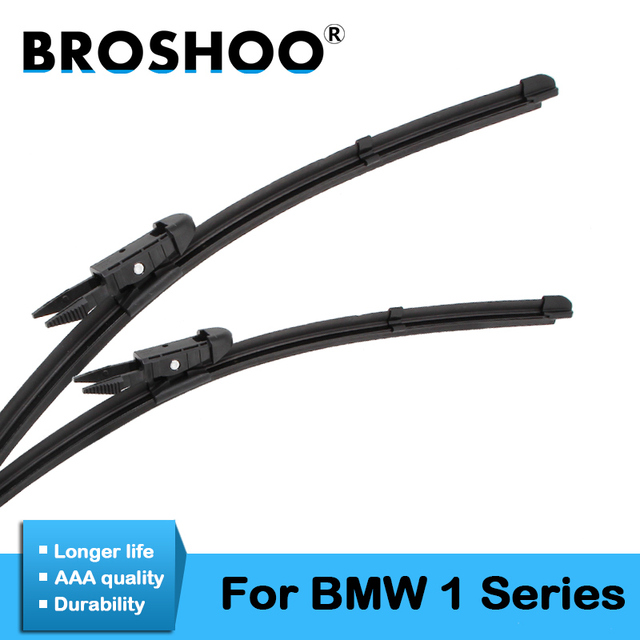 946a0b5d5b2a BROSHOO Car Windshield Wiper Blade Rubber For BMW 1 Series E81 E82 E87 E88  F20 F21 Fit Pinch Tab Arms Accessories 2004 To 2017