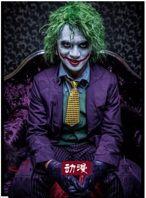 Movie Arkham Origins The Dark Knight The Joker Cosplay Costume Halloween  Costumes Full Suit : Coat + Vest + Shirt + Pant + Tie In Movie U0026 TV Costumes  From ...