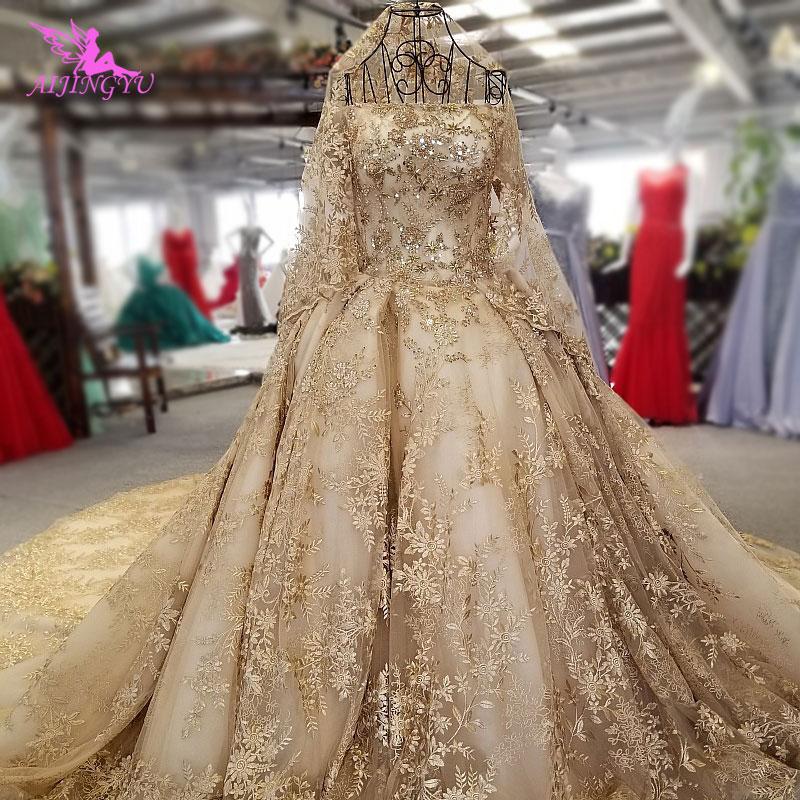 Aijingyu Wedding Vintage Dresses Gowns Brazil Grey Lace Amazing