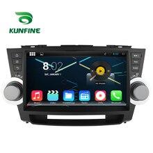 Octa Core 1024*600 Android 6.0 Del Coche DVD GPS de Navegación Multimedia Reproductor Estéreo Del Coche para Toyota Highlander 2011-14 Radio Bluetooth