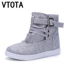 Vtota Модные осенние ботинки Новинка, женская обувь полусапожки Брендовая текстильная обувь на плоской подошве на шнуровке повседневная обувь дышащая Botas X305