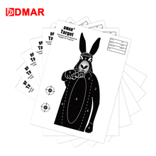 DMAR 20/50/100pcs 42cm Shooting Target Paper Rabbit Silhouette Tactical Training Target Airsoft Bow Archery Outdoor Indoor wosport wst box type reset shooting target linkage metal spinner outdoor indoor durable harmless steel archery airsoft gun