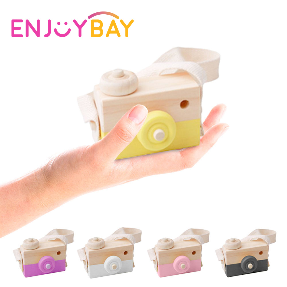 Cute Nordic Style Wooden Camera Toys For Baby Fashion Pendant Baby Kids Hanging Camer Prop Decoration Kids Educational Toys