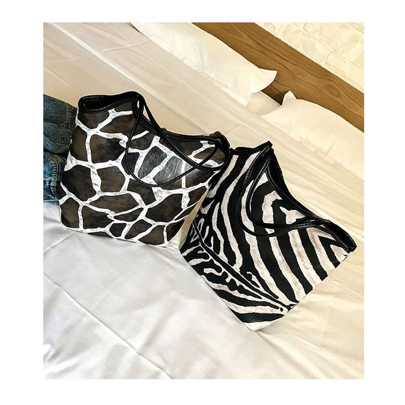 Da Lusso Spalla Stampa Delle giraffe Leopard Leopardo Di Donne Zebra Borse Pattern Del Shopping white Dimensioni yellow Pattern Signora Grandi Leopard Marca Della Tote Progettista Capacità Viaggio Big A Borsa Retrò dtwwqOR