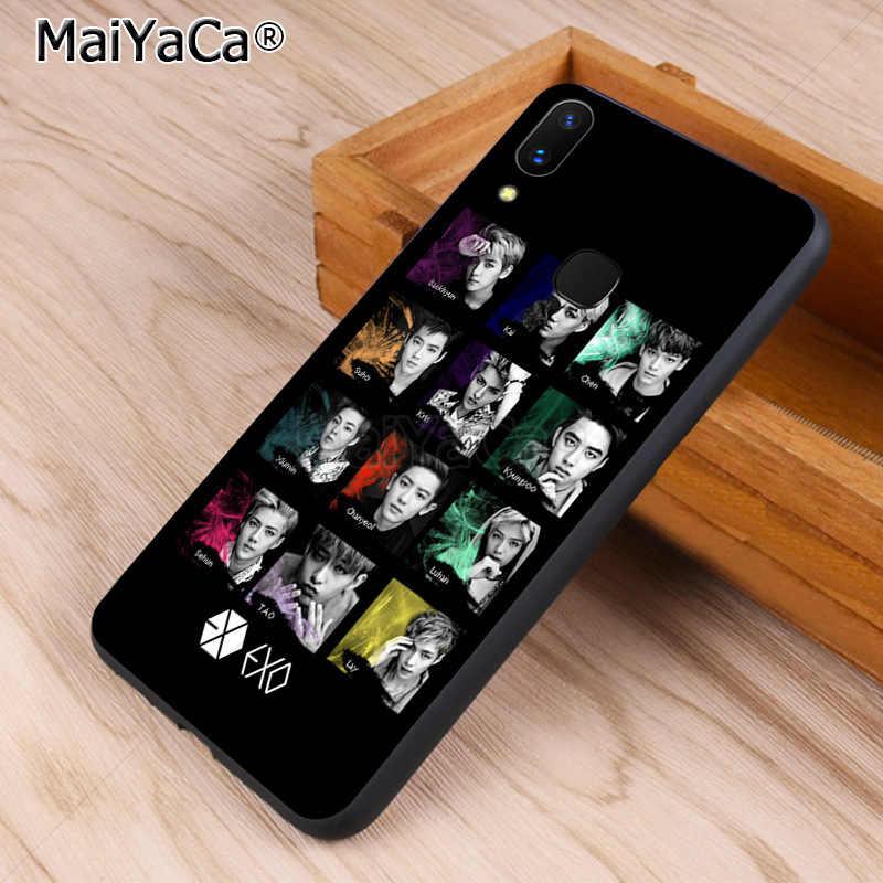 MaiYaCa KPOP EXO LUCKY ONE การป้องกันโทรศัพท์สำหรับ vivo x20 plus x21 ud nex s x9s V9 v7 Y 83 case funda