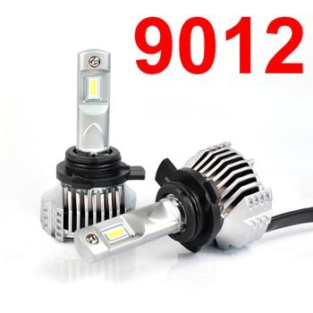1 Set 9012 HIR2 P12 Car LED Headlight Super Bright 0.72MM Ultra Thin No Blind W/ Driver Front Lamps Bulb 6000K White 90W 13000LM