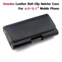 """Funda de cuero genuino con Clip de cinturón para 4,5-5,1 """"funda de teléfono móvil para iPhone 6 Samsung S5 s6 Grand Prime J5 Moto G"""