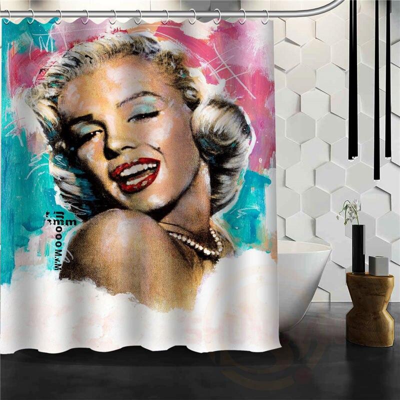 Custom White Dress Style Sexy Marilyn Monroe Shower Curtain Bath Curtains