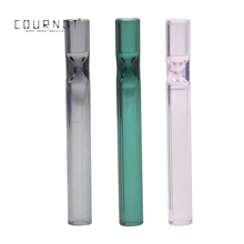 COURNOT Premium Glass One Hitter Pipes Smoking  Pipe 109MM Cigarette Holder Dugout Tobacco Herb Accessories