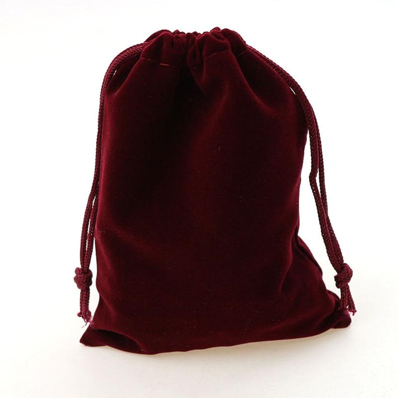 6af456d7c7bfc 7 9 سنتيمتر 50 قطع مجوهرات المخملية أكياس لتعبئة النبيذ الأحمر هدايا نساء  مجوهرات الحقائب اليدوية diy الفانيلا حقيبة الرباط حقيبة