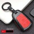 Автомобильный Стайлинг ABS углеродного волокна Автомобильный Дистанционный корпус умного ключа крышка брелок для Cadillac XT5 XTS ATS CT6 CTS ATS 28T ATS-L SRX ...