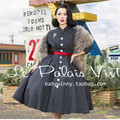 le palais vintage women 50s gray long batwing sleeve swing pleated wool shirt dress rockabilly pin up vestido plus size dresses