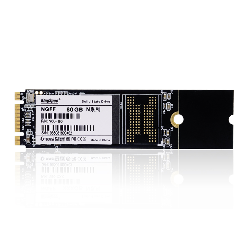 ФОТО 2280 Kingspec NGFF M.2 SSD/HDD 64GB solid state drive hard disk Memory without cache for Tablet/Laptop/ultrabook SATAIII 6Gbps