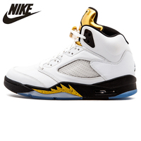 Nike Air Jordan 5 Retro Olympic AJ5 Joe 5 Olympic Gold Medal In Men's Basketball Shoes, Original Comfortable Shoes
