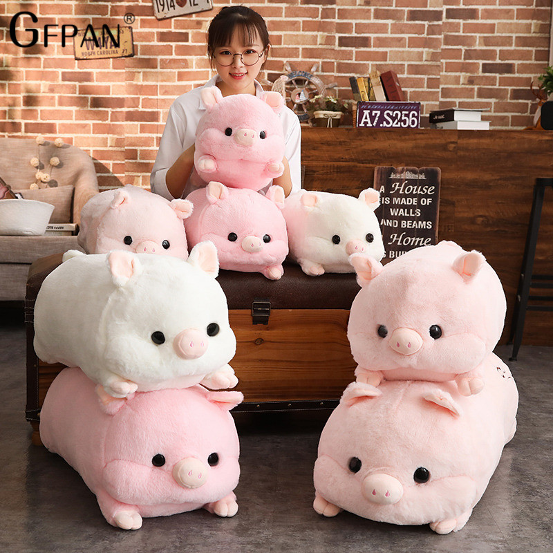 70/50cm Simulation Fluffy Pig Plush Toys For Children High Quality 100% Soft Down Cotton Baby Brinquedos Kawaii Animals For Kids