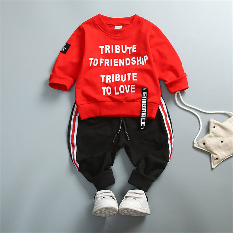 2018 Baby Boys Clothing Set Kids Clothing Sets Long Sleeve T-Shirt + Pants Autumn Spring Children's Sports Suit Boys Clothes baby boy clothes set autumn children clothing sets kids girls long sleeve elephant cotton pants boys clothes sports suit
