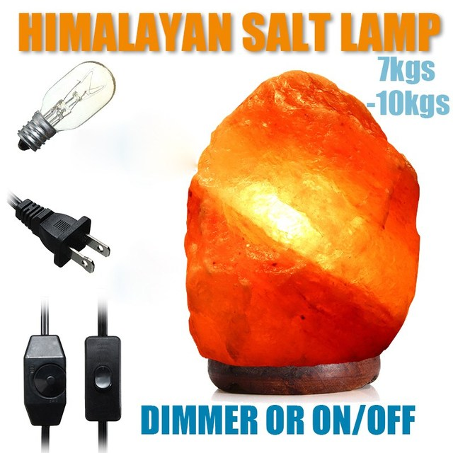 Himalayan Crystal Rock SALT Laml Natural Pink Crystal Available Night Light Air Purifier Adjustable Lamps