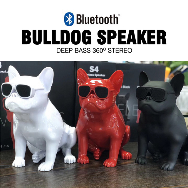 S4 Aerobull Nano Wireless Bluetooth Speaker Bulldog Portable 10W Stereo Super Bass USB AUX Outdoor Full Dog Subwoofer Big Size