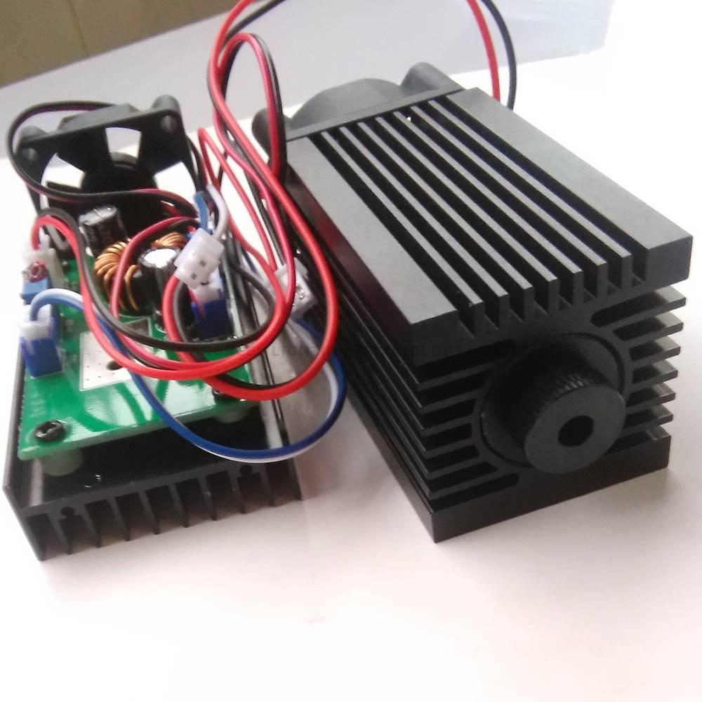 Ad alta Potenza Diodo Laser 2 W/2000 mW Focusable Modulo Laser Blu 450/445nm con TTL Driver per taglio laser macchina per incidere di cnc