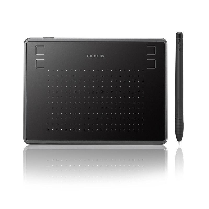 HUION H430P los niveles de 4096 ultrafino gráficos del dibujo de la Tablet batería libre de Digital Pen Tablet con guante (perfecto para osu)