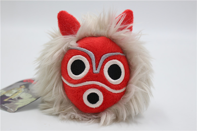 New Studio Ghibli Plush Princess Mononoke Mask Shaking Soft Plush toy Keyring Pendant clever платье clever 201546 6 белый коралловый
