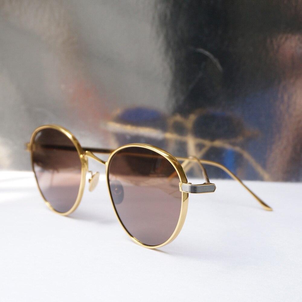 Gafas de sol de moda 2019 nuevo diseño de titanio Marco de gafas de sol para hombres mujeres gafas de lectura para la decoración del espectáculo de moda 9 S