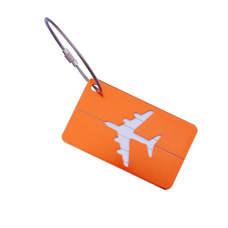 OKOKC багажные бирки из алюминиевого сплава, багажные бирки, ярлыки для багажа, аксессуары для путешествий - Цвет: Orange