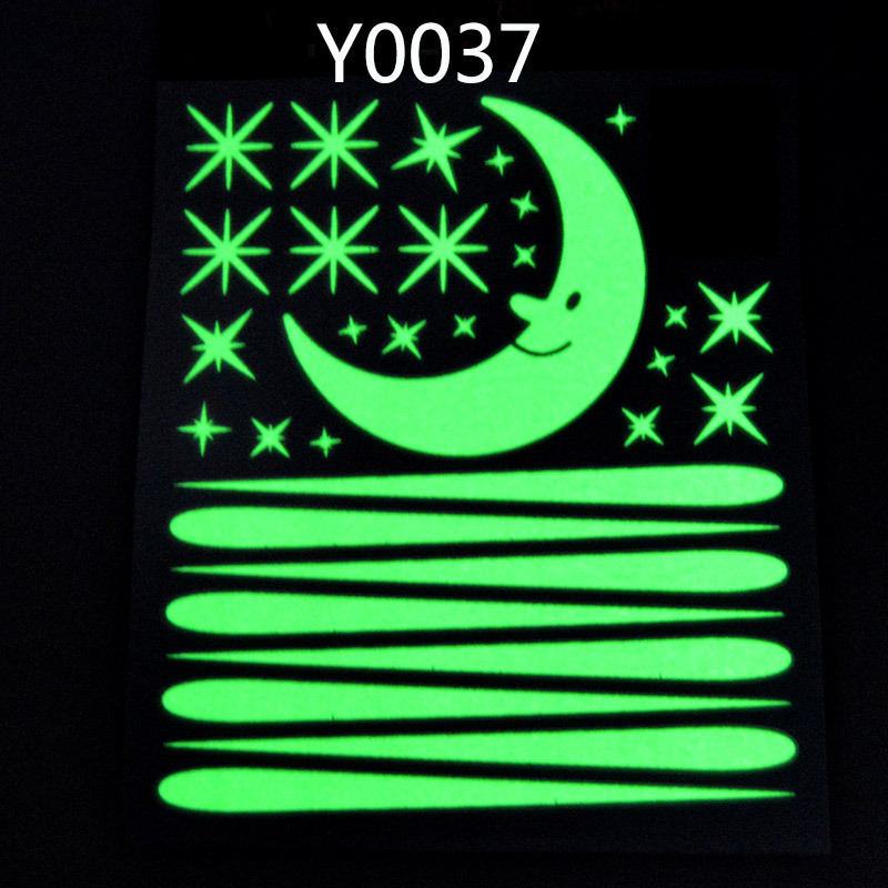 Meteor shower moon luminous stickers fluorescent stars patch plastic three-dimensional luminous wall stickers