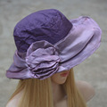 Women Kentucky Derby Hats Soft Crushable Protection Sun Hats for Women Church Hat Female Wide Brim Hats A276