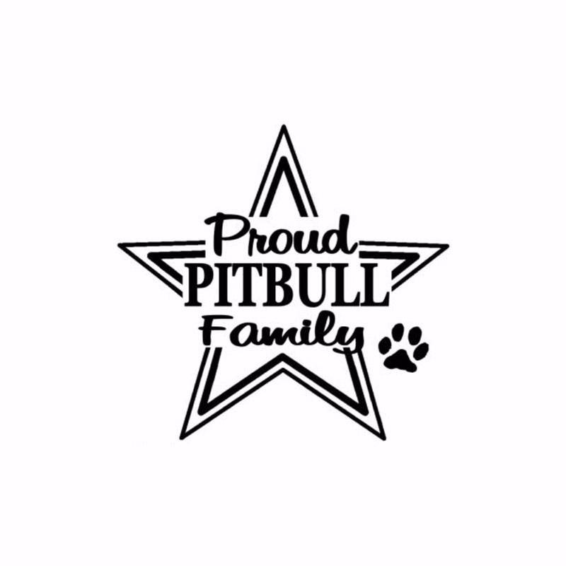 Creative Proud Pitbull Family Car Sticker Funny Cartoon Dog Vinyl Car Decal