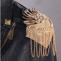 (2 unids/lote) Hecho A Mano de los hombres y mujeres de la joyería kpop punky de la vendimia de moda charretera de metal/charretera/hombro charreteras/broche/al por mayor