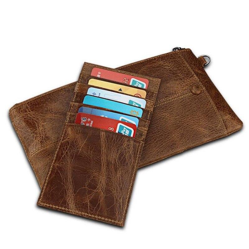 Minimalist Vintage Designer Genuine Leather Men Slim Thin Wallet Male Long Purse Money Clip Credit Card Dollar Price