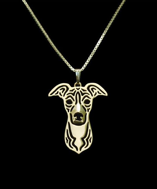 2016 Rushed Chrysocolla Kolye Collares Wholesale Sales Italian Greyhound Pendant And Necklace Hollow Out Dog Animal Lovers Love