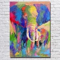 100 Handmade Decor Works High Quality Abstract Animal Modern Wall Art Elephant Oil Painting On Canvas