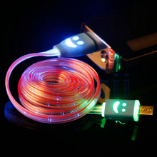 LED Light 8pin USB Data Sync Charging Cable Cord Wire For Samsung Huawei Meizu Xiaomi Android Phone Tablet Micro USB Cable Light