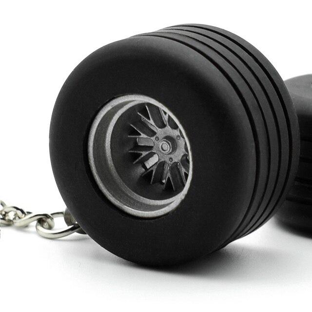 Automóvel carro 2 cm grosso pneu de Borracha chave anel Chave cadeia anel chave Do Carro Styling Auto Roda pneu auto turbo aro Chaveiro