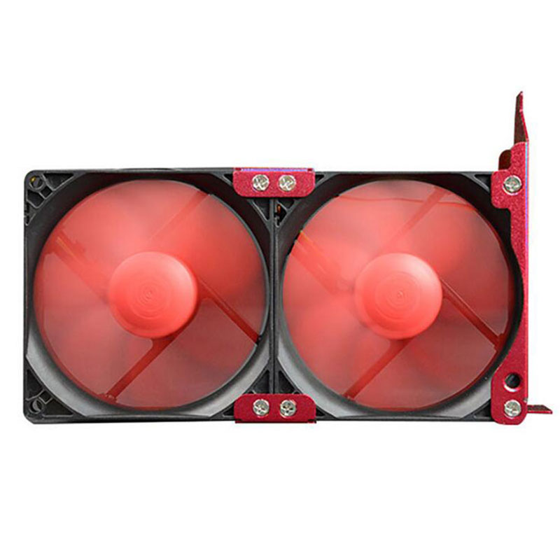New Red 8 cm V8 partner main box fan pci a graphics radiator Cooling fan for general graphics auxiliary Cooling Fans & Cooling