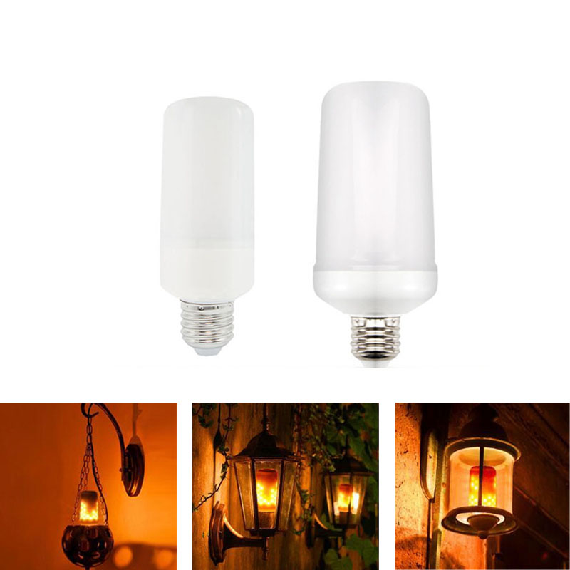 E27 E26 2835 LED Flame Effect Fire Light Bulbs Creative Lights Flickering Emulation Vintage Atmosphere Decorative Lamp